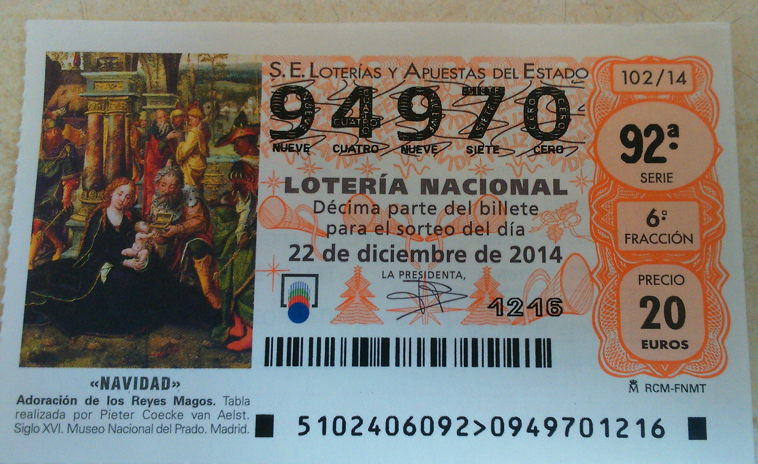 decimos de loteria