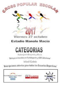 CARTEL CROSS ESCOLAR 2017