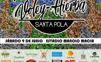 Cartel Voley I Hierba Santa Pola